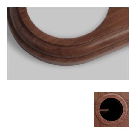 Marco madera redondo bubinga i interruptores de for Espejo redondo marco madera